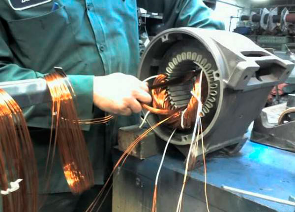 Перемотка электродвигателей своими руками фото